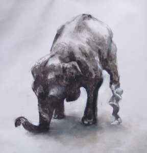 Hard Labour - Girl with Elephant