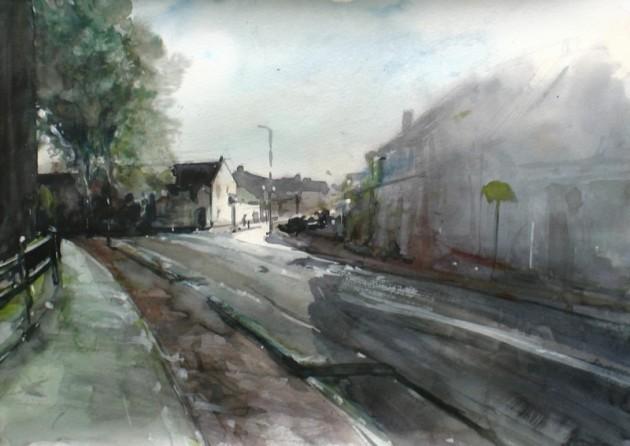 Zicht op de Laarstraat vanaf het Korvelplein - Tilburg - 21062019 (30 x 42)