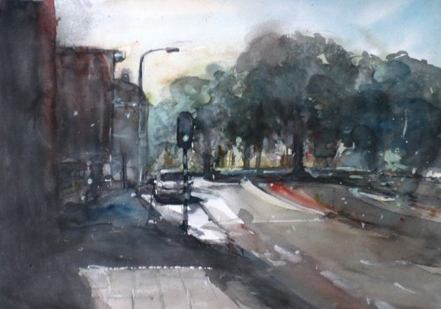 Zicht op het Korvelplein vanaf de Oerlesestraat - Tilburg - 20062019 (30 x 42)
