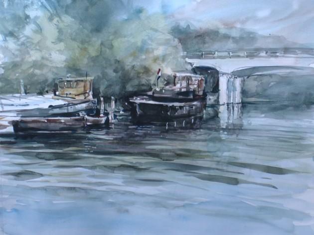Piushaven Tilburg - Zicht de brug Ringbaan Oost - 26082019 (30 x 40)