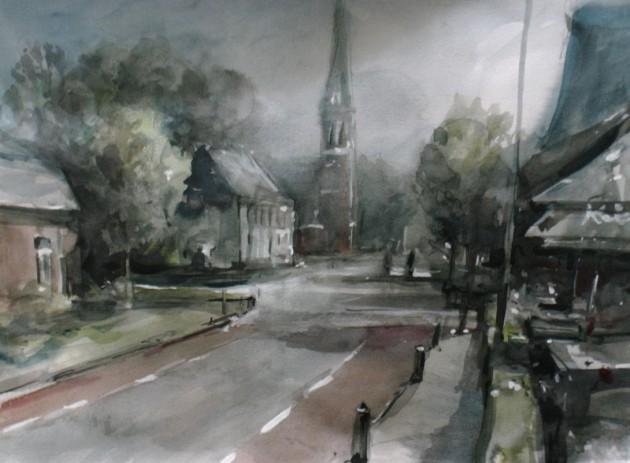 Dorpstraat Riel - 02092019 (30 x 40)