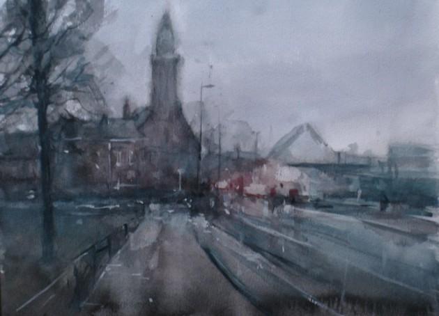 Korvelplein in de Mist, Tilburg - 27122019 (30 x 40)